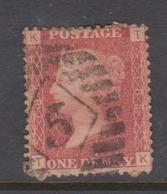 Great Britain SG 43 1864 1d Rose Red,used - 1840-1901 (Viktoria)