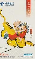 CHINA. FAUNA. TIGERS - TIGRES. BJT-190201-05-P1(4-3). (755). REVERSO REGULAR. - Tarjetas Telefónicas