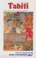 RARE TC Japon / 110-011 - AIR FRANCE TAHITI / PF POLYNESIE - PEINTURE - GAUGUIN - French Polynesia Japan Painting Pc 42 - Peinture