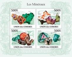 Comoros, 2010. [cm10102] Minerals (s/s+bl) - Minerals