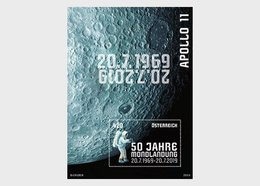 Austria 2019 50th Anniversary Of Moon Landing - Mint Postfrisch 'Glow In The Dark' S/S MNH Space Astronaut Osterriche - Space