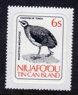 TONGA NIUAFO'OU - 1983 6S POLYNESIAN SCRUB HEN BIRD STAMP SELF-ADHESIVE ON BACKING PAPER FINE MNH ** SG 31 - Tonga (1970-...)