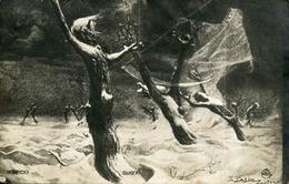 TREES MORPH INTO HUMANS OLD METAMORPHIC POSTCARD - 1900-1949