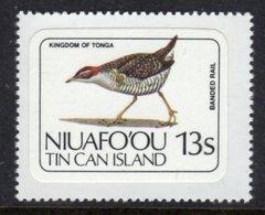 TONGA NIUAFO'OU - 1983 13S BANDED RAIL BIRD STAMP SELF-ADHESIVE ON BACKING PAPER FINE MNH ** SG 34 - Tonga (1970-...)