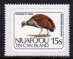 TONGA NIUAFO'OU - 1983 15S POLYNESIAN SCRUB HEN BIRD STAMP SELF-ADHESIVE ON BACKING PAPER FINE MNH ** SG 35 - Tonga (1970-...)