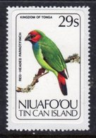 TONGA NIUAFO'OU - 1983 29S RED-HEADED PARROT FINCH BIRD STAMP SELF-ADHESIVE ON BACKING PAPER FINE MNH ** SG 37 - Tonga (1970-...)