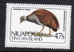 TONGA NIUAFO'OU - 1983 47S POLYNESIA SCRUB HEN BIRD STAMP SELF-ADHESIVE ON BACKING PAPER FINE MNH ** SG 39 - Tonga (1970-...)