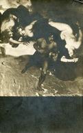 NUDES AS CLOUDS PURSUE MAN OLD METAMORPHIC POSTCARD - 1900-1949