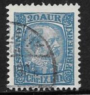 Iceland Scott # 40 Used Christian LX, 1902 - 1873-1918 Deense Afhankelijkheid