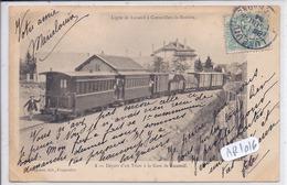 LUXEUIL-LES-BAINS- DEPART D UN TRAIN A LA GARE DE LUXEUIL- LIGNE DE LUXEUIL A CORRAVILLERS-LA-ROSIERE - Luxeuil Les Bains