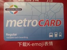 Australia Transport Cards, Adelaide Metro, Metro Card, (1pcs) - Australie