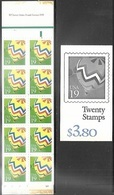 US  1991   Sc#BK187 (2530a X 2) Complete Booklet Of 20  MNH - Carnet (Carné)