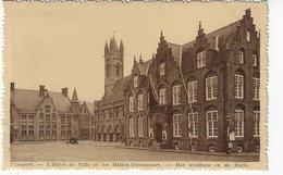 BELGIQUE - NIEUPORT - L'Hôtel De Ville Et Les Halles / Niewpoort - Het Stadhuis En De Halle - 1938  (S113) - Nieuwpoort