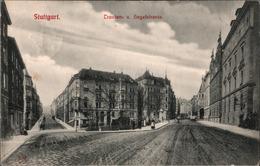 ! 1908 Alte Ansichtskarte Aus Stuttgart, Traubenstraße Und Hegelstraße - Stuttgart