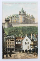 CHATEAU FRONTENAC FROM MARKET, LOWER TOWN, QUEBEC, CANADA - Québec - Château Frontenac