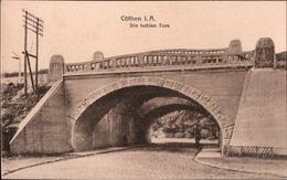 ! Alte Ansichtskarte Köthen, Cöthen In Anhalt, Eisenbahnbrücke, Die Hohlen Tore - Köthen (Anhalt)
