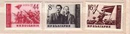 1953 September Revolution  3v.-MNH  Bulgaria / Bulgarie - 1945-59 Volksrepublik