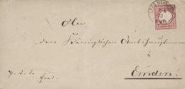 1872- Cover From LEER BAHNHOF To Emden  - Fr. 1 Groschen - Storia Postale