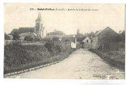 77 SAINT PATHUS ARRIVEE DE LA ROUTE DE OISSERY 1917 CPA 2 SCANS - Otros Municipios