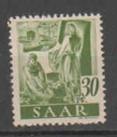 SARRE              N° YVERT   207       NEUF SANS CHARNIERES  ( Nsch 02/03 ) - 1947-56 Gealieerde Bezetting