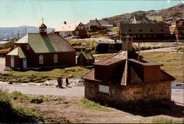! Modern Postcard, 1979 Qaqortog, Julianehab, Kirke, Kirche, Church, Eglise, Grönland, Greenland - Grönland