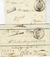 Lombardo-Veneto -2 Lettere Di MIRANO ( Vollmeier N°3 Y 4 ) Per Wien- - Italy