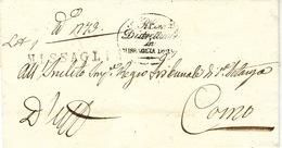 Lombardo-Veneto -1837- Lettera Da MISSAGLIA ( Vollmeier N°1 Nero) Per COMO - Italy