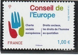 FRANCE 2016 SERVICE CONSEIL DE L EUROPE YT 168 NEUF            -                 TDA267 - Service