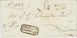 Lombardo-Veneto -1849- Lettera Di MOGGIO ( Vollmeier N°2 Nero) Per Udine -rating L.1/2 - Italy