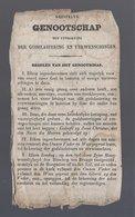GEESTELYK GENOOTSCHAP TOT UYTROEYING DER GODSLASTERING EN VERWENSCHINGEN BRUGGE VERSO: AFLATEN PAUS GREGORIUS XVI 1835 - Devotion Images