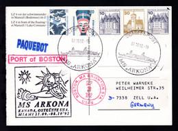"SCHIFFSPOST MS  ""ARKONA"" 07.10.92 + Cachet Kanada, Ostküste USA, Miami + R1  - Unclassified"