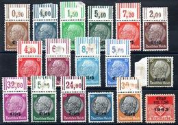 YT N° 8 à 23 - Neufs ** (sauf 22 Neuf *) - Cote: 72,80 € - Alsazia-Lorena