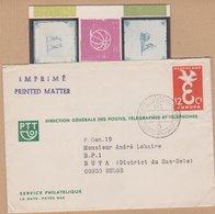 ENVELOPPE TIMBRE EUROPA  + CORRESPONDANCE 1958 SERVICE PHILATELIQUE LA HAYE PAYES BAS  VOIR PHOTO - Postal History