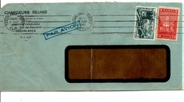 MAROC AFFRANCHISSEMENT COMPOSE SUR LETTRE A EN TETE DE  DE CASABLANCA POUR LA FRANCE 1941 - Lettres & Documents
