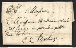 Ariège-Lettre Avec Marque P8P PAMIERS (35*11.5)-Pour Toulouse - Marcophilie (Lettres)