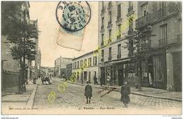 93. PANTIN .  Rue Hoche . CPA Animée . - Pantin