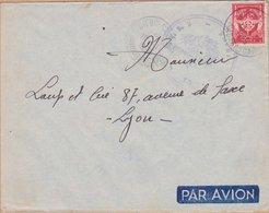 ENVELOPPE TIMBRE  PAR AVION 1956 FM DIEGO SUAREZ  VOIR TIMBRE ET CACHETS - Diégo-Suarez (1890-1898)