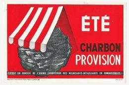 Buvard 19.5 X 12.9 été CHARBON Provision Conseil De L'Union Européenne Des Négociants Détaillants En * - Carte Assorbenti