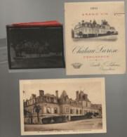 010919d - VIN BORDEAUX étiquette 1911 CHATEAU LAROSE PERGANSON Comte LAHENS Carte Postale Et Son Négatif - Bordeaux