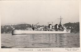 Rare Cpa Navire De Guerre Torpilleur Le Hardi - 1939-45