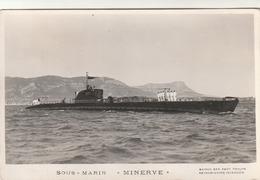 Rare Cpa Navire De Guerre Sous-marin Minerve - 1939-45