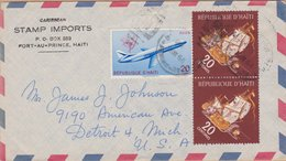 ENVELOPPE TIMBRE PAR AVION 1964  PORT AU PRINCE VOIR TIMBRES ET CACHETS - Haiti