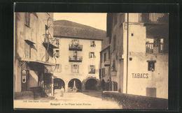 CPA Sospel, La Place Saint-Nicolas - Sospel