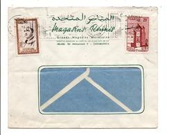 MAROC AFFRANCHISSEMENT COMPOSE SUR LETTRE A EN TETE DE CASABLANCA POUR LA FRANCE 1961 - Marocco (1956-...)