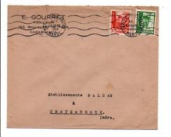 MAROC AFFRANCHISSEMENT COMPOSE SUR LETTRE A EN TETE DE CASABLANCA POUR LA FRANCE 1950 - Marruecos (1956-...)