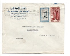 MAROC AFFRANCHISSEMENT COMPOSE SUR LETTRE A EN TETE DE CASABLANCA POUR LA FRANCE 1960 - Marocco (1956-...)