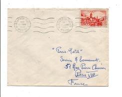 MAROC LETTRE DE MARAKECH GUELIZ POUR LA FRANCE 1951 - Marokko (1956-...)