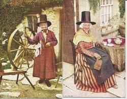 2 CART. FOLCLORE GALLESE  (5) - Costumi