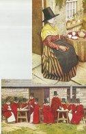 2 CART. FOLCLORE GALLESE  (6) - Costumi