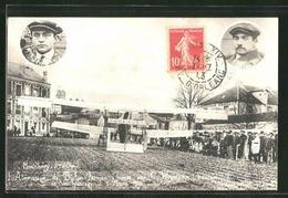 Montlhery Atterrissage Du Biplan Farman Aviateur Weymann Mars  1911 TBE Carte Photo - Montlhery